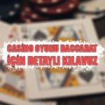 Casino oyunu Baccarat için detaylı kılavuz
