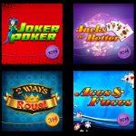 Tipobet365 video poker oyunları